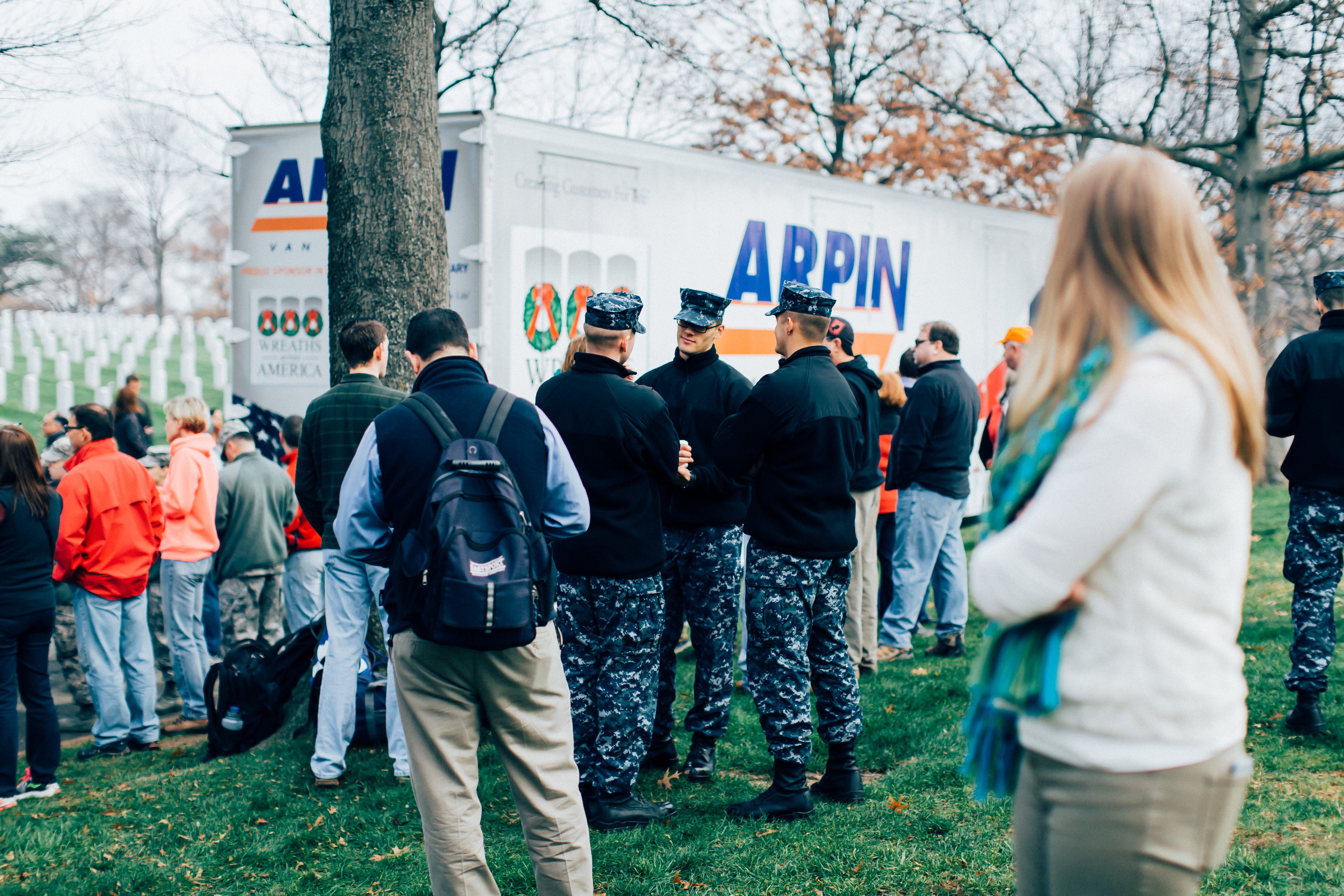 Arpin Drivers Deliver wreaths