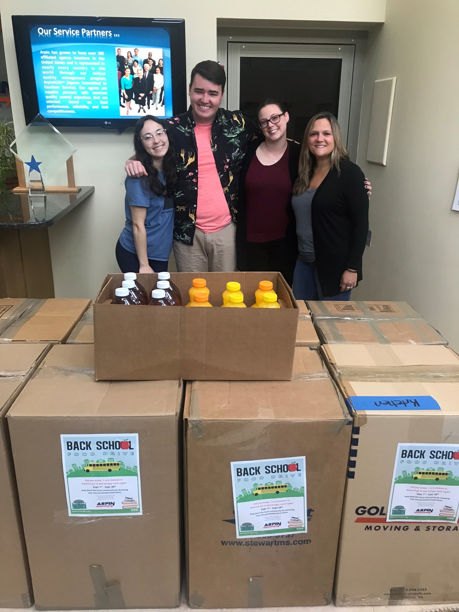 Back to School Food Drive collection